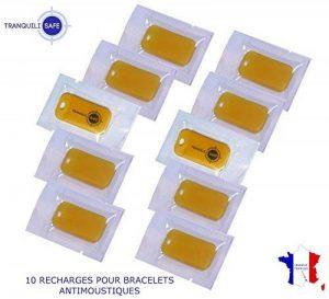 10 RECHARGES AUX HUILES ESSENTIELLES POUR BRACELETS ANTI MOUSTIQUES TRANQUILISAFE® - LIVRAISON GRATUITE de la marque TRANQUILISAFE image 0 produit