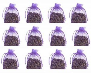 12 Pure Lavender Dry Flower 10g Satchels - Cozy Pouch Sachets Filled with Dried Lavender Buds - Natural Scent Fragrance for Aromatherapy - Car - Closet - Drawers - Moths - Wardrobe de la marque The Lavender Collection image 0 produit