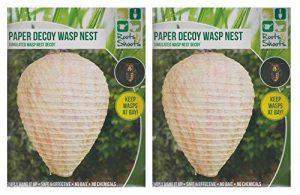 2x Large papier à suspendre Garden Leurre Wasp Nest Maintient guêpes à baie Wasp dissuasif de la marque Roots & Shoots image 0 produit