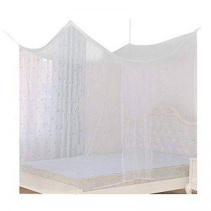 220*200*200cm Moustiquaire de Lit Double 2 Places Baldaquin Rectangulaire Adulte + 2 Crochets + 2 Clips + 1 Rouleau de Corde de la marque QUMAO image 0 produit