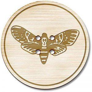 3 x 38mm 'Mite de la Mort' grande rond 4 trous boutons en bois (BT00077340) de la marque Azeeda image 0 produit