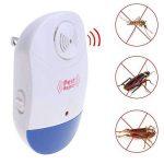 4 PCS répulsif de lutte antiparasitaire, répulsif ultrasonique non-radiatif électronique de parasites de ravageur rejettent des souris rongeurs pour des araignées, des rats, des souris, des cafards, des moustiques, d'autres insectes de la marque elecfan image 1 produit