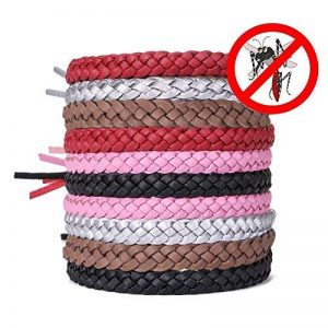 ACTOPP Bracelets Anti Moustique Pour Adultes et Enfants Protection Extérieure Intérieure 100% Naturel sans Deet 10 Packs 5 Couleur de la marque AcTopp image 0 produit