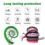 ACTOPP Bracelets Anti Moustique Pour Adultes et Enfants Protection Extérieure Intérieure 100% Naturel sans Deet 10 Packs 5 Couleur de la marque AcTopp image 2 produit