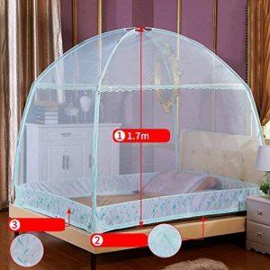 ADQIAO Ciel de lit moustiquaire, Deux ouvertures Rideau filet écran rectangulaire pour lit double, Protection un insectifuge-B 150cm(59inch) de la marque ADQIAO image 0 produit