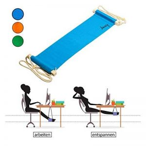 Amazy Hamac de bureau – Repose-pieds en tissu pour se reposer et soulager ses jambes au bureau (Bleu) de la marque Amazy image 0 produit