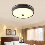 American Style Iron Art LED chambre d'enfant plafonnier moderne circulaire chambre balcon allée anti-moustique lampe personnalité mode salon lampe d'apprentissage (trois couleurs de changement de lumière) ( taille : 42cm 48w ) de la marque BLLz&Xdd image 2 produit