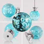 anti-acariens Lot de 10boutons de porte en verre cristal avec bulles, Transparent avec poignées pour tiroir Armoire meubles Décoration (30mm- Bleu) de la marque MITE image 4 produit