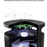 Anti-moustique lampe domestique intérieur muet automatique contrôle de la lumière restaurant avec plug-in inhalation électrique attraper contrôle anti-moustique (modèle en 3 dimensions) CO2 + lumière UV + simulation de l'humidité ( Color : Noir , Taille : image 2 produit