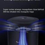 Anti-moustique lampe domestique intérieur muet automatique contrôle de la lumière restaurant avec plug-in inhalation électrique attraper contrôle anti-moustique (modèle en 3 dimensions) CO2 + lumière UV + simulation de l'humidité ( Color : Noir , Taille : image 4 produit