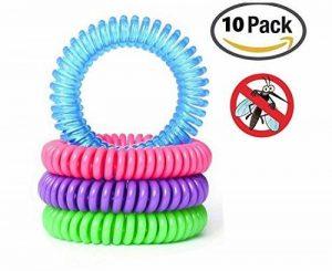 Anti-moustiques Bandes/bracelets (lot de 10) 100% tout Naturel non toxique et DEET gratuit. Bug et insectes. Taille unique multicolore de la marque Annci image 0 produit