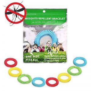 anti-moustiques Bracelets Bracelet–100% sûr DEET gratuit Flying Insectifuge, la solution de tous les Naturel pour garder Bugs Away présent–Scientifiquement conçu jusqu'à 300heures d'utilisation par Bracelet–Lot de 8 de la marque punson image 0 produit