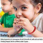 anti-moustiques Bracelets, Naturel anti-moustiques Bracelet avec étanche vous permet de garder les insectes et Acariens Éloignés et de sécurité non toxique (12paquets) de la marque Hompie image 2 produit