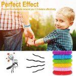 anti-moustiques Bracelets, Naturel anti-moustiques Bracelet avec étanche vous permet de garder les insectes et Acariens Éloignés et de sécurité non toxique (12paquets) de la marque Hompie image 4 produit