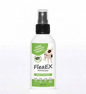 Anti tiques chien & anti puces chat BIO de FleaEx | Formule 100% naturel sans danger pour enfants | Produit en spray pour animaux de compagnies de la marque FleaEx image 0 produit