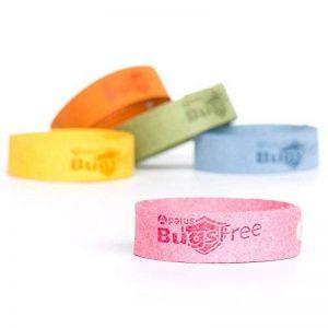 Apalus Bracelets Anti-insectes, anti-moustiques, arôme 100% naturel, 240 heures d'efficacité, sans pesticide sans DEET (DEET : diéthyltoluamide), réutilisables, 5 bracelets par paquet de la marque APALUS image 0 produit