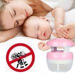 Aquiver Mosquito Killer USB lampe LED, chargeur USB, anti moustique électrique UV lumière Zappers Fly insectes lampe LED, rose de la marque Aquiver image 3 produit