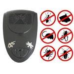 Aquiver Répulsif électronique à ultrasons, contrôle des parasites, répulsif à brancher, pesticides pour rongeurs, souris, cafards, insectes, araignées, mouches, fourmis, puces, moustiques, parasites et rats. 2Pcs Noir de la marque Aquiver image 3 produit