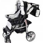 Baby Sportive - Landau pour bébé avec roues pivotables + Siège Auto - Poussette - Système 3en1, incluant sac à langer et protection pluie et moustique - Noir et Blanc de la marque Baby Sportive image 3 produit