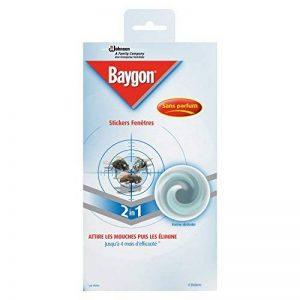 Baygon Stickers Vitre Anti-Mouches, Efficacité 4 Mois, Insecticide, Lot de 4 de la marque Baygon image 0 produit