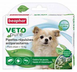 Beaphar - VETOpure, pipettes répulsives antiparasitaires - petit chien ( image 0 produit