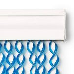 Best Purchase Rideau de Porte Moustiquaire en PVC Bâtonnet D'Aluminium - Made in Espagne - Mesures Standard (90x210) (Bleu et Blanc) de la marque Best Purchase image 2 produit