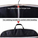 Bidear Foldover respirant Housse Costume Sac de transport avec poignées pour Voyager – Tissu, noir, 110*60cm de la marque Bidear image 4 produit