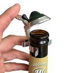 Bouteille de bière étain Couvercle chasseur Chapeau Gams Barbe de Chapeau Moustiquaire Anti-Moustiques–avec d'acier Pince à ressort, s'adapte sur coupe Bouteille de bière de la marque Geschenkbox image 1 produit