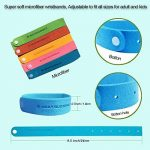 Bracelet anti-moustique -12 packs tous les bracelet anti-moustique naturel bracelet insectifuge bracelets voyage pas de détritus non toxique pour les enfants et les adultes de la marque Kiveta image 2 produit