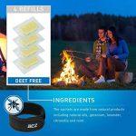 Bracelet Anti Moustique, Lot d'un bracelet anti moustique + clip, 4 recharges GRATUITES, ingrédients naturels garantis sans DEET, non toxique de la marque BEZ image 4 produit