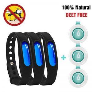 Bracelet anti-moustiques Binwox insectifuge intérieur ou extérieur meilleurs bracelets antiparasitaires avec jusqu'à 90 jours de protection, naturels, sans danger et sans DEET, étanche, bracelet poign de la marque Binwox image 0 produit
