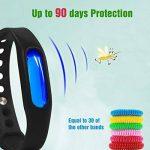 Bracelet anti-moustiques Binwox insectifuge meilleurs bracelets antiparasitaires 90 jours de protection, naturels, sans danger et sans DEET, étanche, bracelet poignet/cheville pour enfants et adultes de la marque Binwox image 2 produit