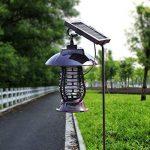 Caryan Énergie solaire insectes Zapper, fonctionne à l'énergie solaire Street lumière insectes Bug Killer, extérieur, Lanterne pour les moustiques, les moustiques, les insectes nuisibles et autres insectes de la marque CARYAN image 1 produit