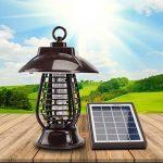 Caryan Énergie solaire insectes Zapper, fonctionne à l'énergie solaire Street lumière insectes Bug Killer, extérieur, Lanterne pour les moustiques, les moustiques, les insectes nuisibles et autres insectes de la marque CARYAN image 3 produit