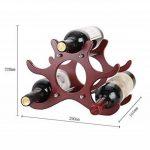Casier à vin Porte-bouteilles en bois Creativity Ménage Couleur Redwood Porte-bouteilles Longueur 29 × Large 16 × Hauteur 22cm de la marque CXQ image 1 produit