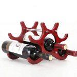 Casier à vin Porte-bouteilles en bois Creativity Ménage Couleur Redwood Porte-bouteilles Longueur 29 × Large 16 × Hauteur 22cm de la marque CXQ image 3 produit