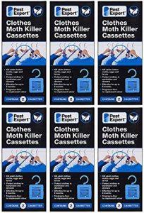 Cassettes anti-mites de vêtements (6 x lots de 2 cassettes) de Pest Expert. Nouvelles sur le marché. Formulation inodore avancée. de la marque Pest Expert image 0 produit
