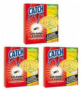 CATCH - Boite de 10 Spirales Anti Guêpes & Frelons Parfumées Citronnelle(Lot de 3) de la marque Catch image 0 produit