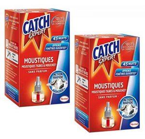CATCH EXPERT Lot de 2 Recharge pour Diffuseur Electrique Réglable 45 Nuits action simple rapide et efficace contre moustiques moustiques tigres et mouches de la marque Catch Expert image 0 produit