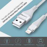 Câble iPhone Câble Lightning - Vipfan [2X1M 2X1.8M] Chargeur iphone avec Connecteur Ultra Résistant en Aluminium pour iPhone X/8/8 plus/7/7plus/6s/6s Plus/6/6 Plus/5/5 C /5S/se/iPad Pro/Air/Mini de la marque Vipfan image 1 produit