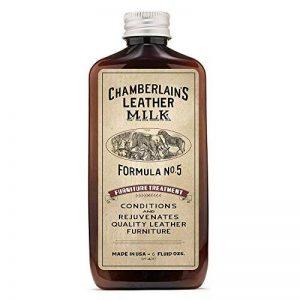Chamberlain's Leather Milk - Furniture Treatment n° 5 - lait nettoyant pour meuble en cuir - avec coton - naturel/non toxique - 0.18 L de la marque Chamberlain's Leather Milk image 0 produit