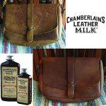 Chamberlain's Leather Milk Lot de 2 laits nettoyant/assouplissant cuir n° 1 et 2 - avec 2 cotons - naturel/non toxique - 0.35 L de la marque Chamberlain's Leather Milk image 3 produit