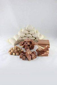 Chemekx Cedar Storage Essentials 100 PC Value Pack | 25 Wood Moth Balls, 25 Natural Cubes, 25 Rings, 15 Sachets & 10 Blocks | Safe, Effective, Easy-to-Use Garment Care Accessories de la marque Chemekx image 0 produit