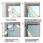 chou-rave Lot de 2anti Mosquito Bug Insect Fly fenêtre écran en maille filet Rideau avec Collant Bande Velcro–Blanc de la marque Rabi image 4 produit
