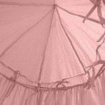 Ciel de lit pour enfants, Filet anti-moustique en coton à suspendre - Rideau, Tente de lecture Intérieure et Extérieure, décoration de lit et de chambre à coucher, Moustiquaire (hauteur : 240cm, Circonférencedu haut : 152cm, circonférence du bas: 265 image 4 produit