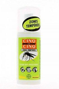 Cinq Sur Cinq Spray Zons Temperees Lotion Anti-moustique 100 Ml de la marque Cinq sur Cinq image 0 produit