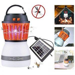 Cmno solaire Zapper Bug Mosquito Killer avec Nuit Lanterne Tente de camping lampe Pest/insectes Contral construire d'étanchéité en panneau solaire et rechargeable USB chargement LED pour intérieur ou extérieur de la marque Cmno image 0 produit
