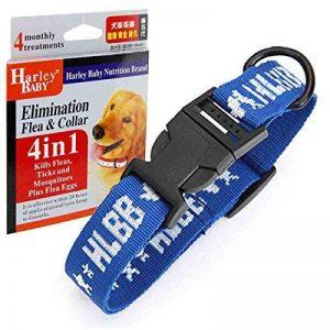 Colliers anti-puces et tiques 4en1 pour grand chien, Protection unique contre les puces et leurs œufs de puces, les tiques, les moustiques, Colliers, laisses, harnais basiques pour chiens de la marque TOME image 0 produit