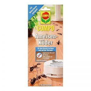 Compo Lot de 2 boîtes d'appât à fourmis Produit de lutte contre les fourmis dans les pièces habitées et celles où l'on mange Sans danger pour les abeilles de la marque Compo image 0 produit
