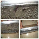 Écran en métal de rideau en aluminium de porte de mouche de la meilleure qualité pour les insectes insectes volants de lutte antiparasitaire, moustiquaire, empêche les insectes, les mouches, les guêpes, moustiquaire double crochet pour l'intérieur et à l' image 4 produit